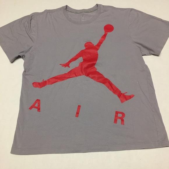 c53155e25430 Jordan Other - Air jordan brand big logo spell out gray t shirt